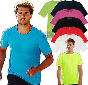 T-shirt PERFORMANCE Uomo SPORTIVA Running SPORT Manica Corta MAGLIETTA palestra