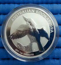 2011 Australia $1 Kookaburra 1 oz 999 Fine Silver Coin in Capsule