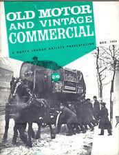 Old Motor + Vintage Commercial Dec 63 Vol 2 No 6 Flying Standard Wynns Ford +