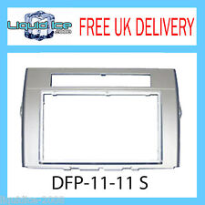 DFP-11-11 S Toyota Corolla Verso Silver Fascia Facia Adaptor Panel Surround CD