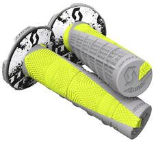 """Duece 2 Motorcycle Grips Grey/Neon Yellow 7/8"""" Scott 219627-5776"""