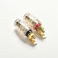 2X Amplifier Speaker  Terminal Binding Post Banana Plug Jack Socket Connector