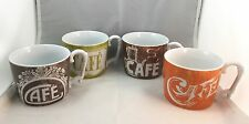 4 NEW Cafe Au Lait Cafe Roseanna Set Coffee Cups Mug 12 Oz Cup Designed In USA