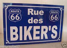 PLAQUE Route 66 RUE des BIKER'S road 66 HARLEY objet collection cadeau pour fan