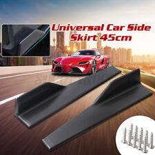 2x Universal Car Side Skirt Rocker Panel Splitters Winglet Wing Canard Diffuser