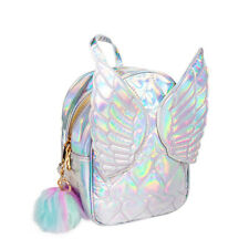 Blue Banana Fairy Butterfly Angel Wings Silver Small Backpack/Girls Rucksack