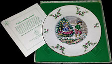"1979 Bone China Christmas Plate by Royal Doulton ""A Joyful Christmas Treasure"""