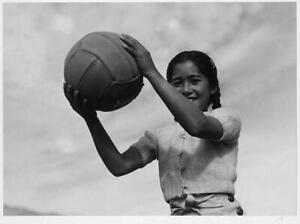 Photo:Girl,volley ball / photograph by Ansel Adams. 4867