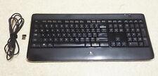 Logitech K800 820-002795 Wireless Backlit Smart Keyboard w/Charger+USB Receiver