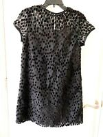 Sylvia Whyte Black Velvet Dress Short Sleeve Dress - NWT