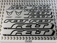 FELT Stickers Decals Bicycles Bikes Cycles Frames Forks Mountain MTB BMX 56X