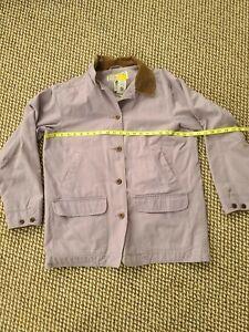 LL Bean Sz L Padded Lining Barn Chore Coat Pinkish Purple