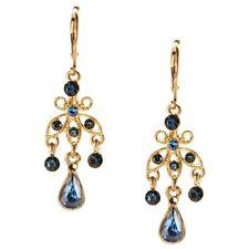 NEW Boho Chic Blue Crystal Teardrop Delicate Chandelier Dangle Drop Earrings