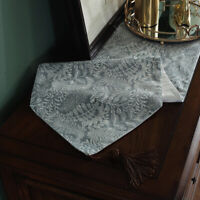 Modern Floral Table Runner Cotton Linen Tablecloth Country Party Home Decor Chic