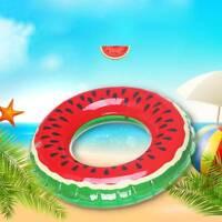 1pc Kid Swim Ring Inflatable Watermelon Float Swimming Pool Toy Tubes Swim Laps