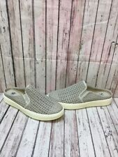 Söfft 'Somers II' Gray Perforated Leather Slip On Mule Shoes Women's Size 9.5 M