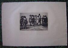 Grande gravure de Paul CHENAY d'après Velasquez  Réunion d'artistes 1884