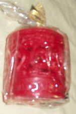 RED CARVED PILLAR CANDLE