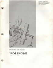 Caterpillar 1404 Engine Assembly & Disassembly Manual (SENB8108-01) {D1308}