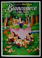 Werbeplakat Schneewittchen E I Sieben Zwerge Walt Disney Cartoon Animation M69