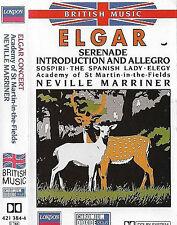 ELGAR CONCERT SERENADE SOSPIRI SPANISH LADY CASSETTE ALBUM MARRINER ST. MARTIN
