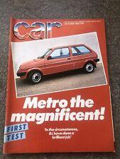 'Car' Magazine October 1980 Bl Metro First Test