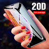 For iPhone Xs Max 8 Plus 20D Full Cover Tempered Glass Screen Protector Film
