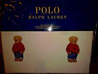 NWT POLO RALPH LAUREN LIMITED EDITION POLO BEAR SHEET SET