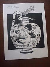 "ART VASE . Pen & Ink orig 20thC illus""Bill Hewison"" Art Editor grayson perry es"