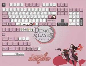 Anime Demon Slayer Kamado Nezuko PBT 134 Key Caps for MX Mechanical Keyboard