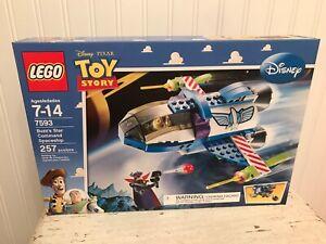 New LEGO 7593 Pixar Toy Story Buzz's Star Command Spaceship 257 Pc ZURG Minifig
