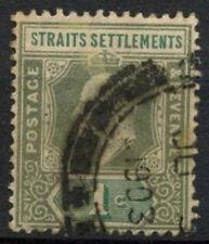 Malaya Straits Settlements 1902-3 SG#110, 1c Grey-Green KEVII Used #A81919