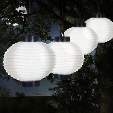 Lights Pure Garden 50-19-W Outdoor Solar Chinese LED Lanterns White Ground Light