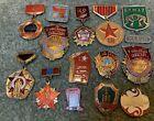 14 NICE COLD WAR SOVIET NAVY USSR RUSSIAN SERVICE BADGE PIN LOT ACCP, 1941, 1971