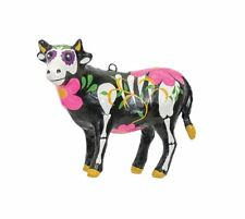 GALLERIE II BARNYARD DAY OF THE DEAD COW HALLOWEEN CHRISTMAS ORNAMENT