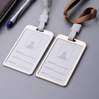 Wholesale Aluminum Alloy Photo Business Work Card ID Badge Case Lanyard Holder