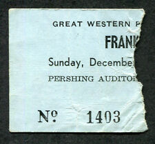 1972 Mothers of Invention Frank Zappa concert ticket stub Lincoln Ne Grand Wazoo