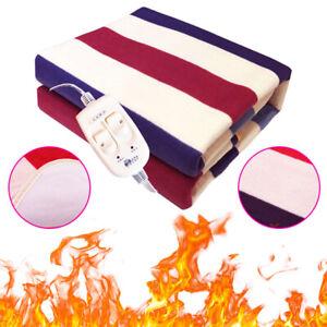Full Size Queen Electric Blanket King Warming Heated Sherpa Twin Bed Fleece Heat