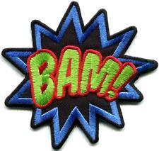 BAM! superhero comics retro fun embroidered applique iron-on patch S-1189