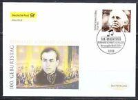Germany 2004 FDC cover Mi 2399 Sc 2284 Reinhard Schwarz-Schilling,composer