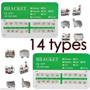 14 types Dental Dentist Orthodontics Brackets 20Pcs/Pack Straight-Wire Bracket
