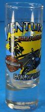 VENTURA CALIFORNIA HARLEY DAVIDSON TALL SHOT GLASS U.S. ROUTE 101 HIGHWAY