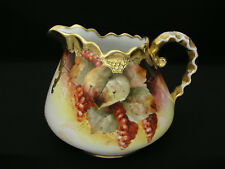 DONATH STUDIO CHICAGO - HAND PAINTED CIDER PITCHER - M ROST LEROY - 1906-1910