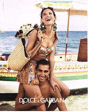 PUBLICITE ADVERTISING 094  2013  DOLCE & GABBANA  tenue de plage