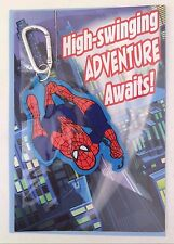 Hallmark Marvel Spider-Man Birthday Greeting Card W/Spidy Backpack Clip Gift