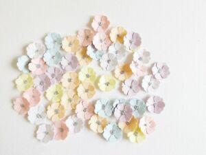 Miniature Flowers Papercraft Embellishments Scrapbooking Floral Craft Supplies