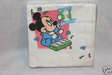 NEW MICKEY MOUSE 1ST BIRTHDAY  VINTAGE DESSERT NAPKINS PARTY SUPPLIES