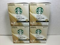 Starbucks Vanilla Caffe Latte Keurig, 1 Case 24 K-Cups, JUNE 2020