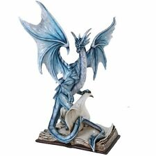 Large Spellbound Dragon Protecting the Secrets Book of Spells Figurine 18 Inch
