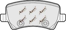 REAR BRAKE PADS FOR FORD MONDEO TURNIER GENUINE APEC PAD1566